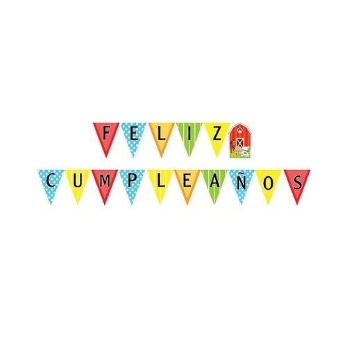 Letrero Feliz Cumpleaños Granja