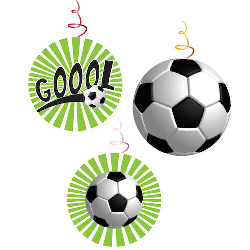 Remolino Decorativo Futbol 3/1