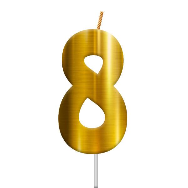 Vela Dorada Numero 8