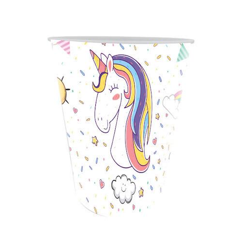 Vasos Carton Unicornio 10/1