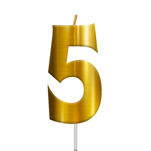 Vela Dorada Numero 5