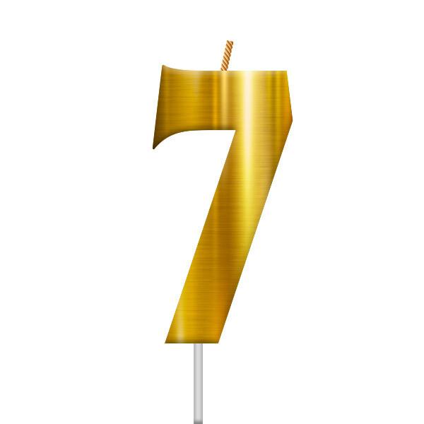 Vela Dorada Numero 7