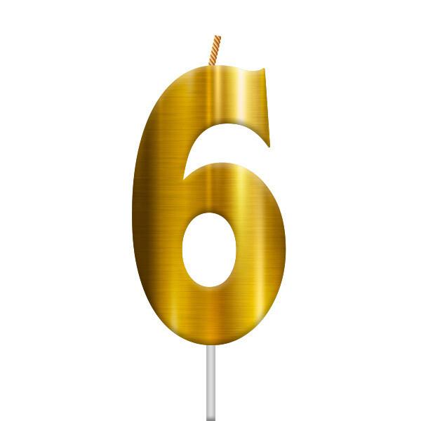 Vela Dorada Numero 6