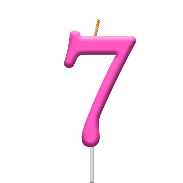 Vela Neon Numero 7