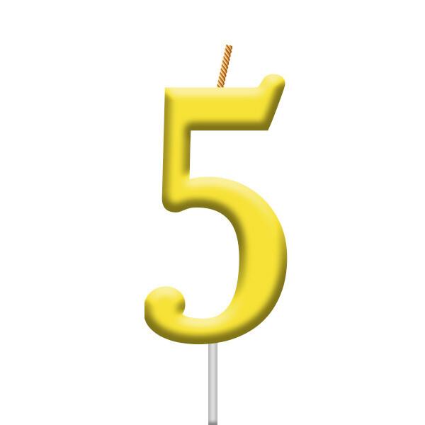 Vela Neon Numero 5