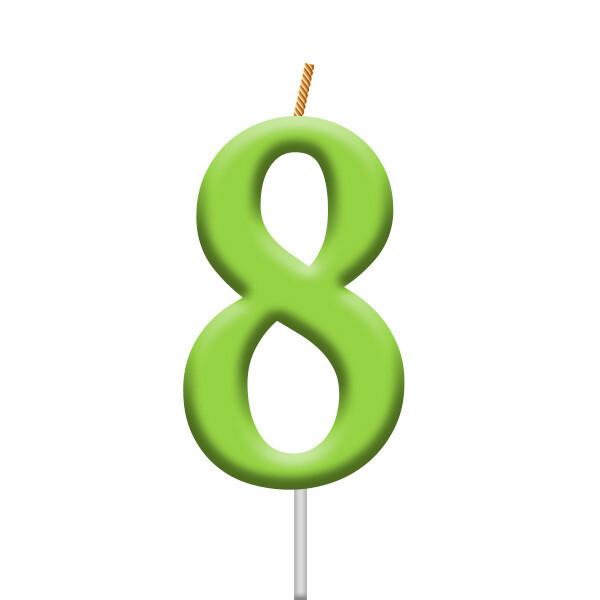 Vela Neon Numero 8