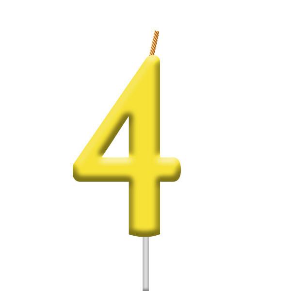 Vela Neon Numero 4