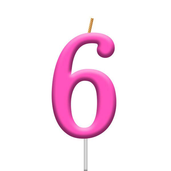 Vela Neon Numero 6
