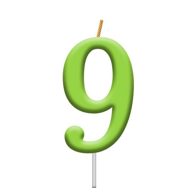 Vela Neon Numero 9