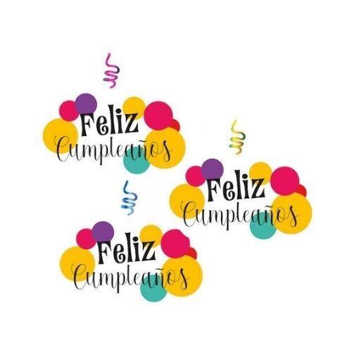 Remolino Decorativo Feliz Cumpleaños 3/1