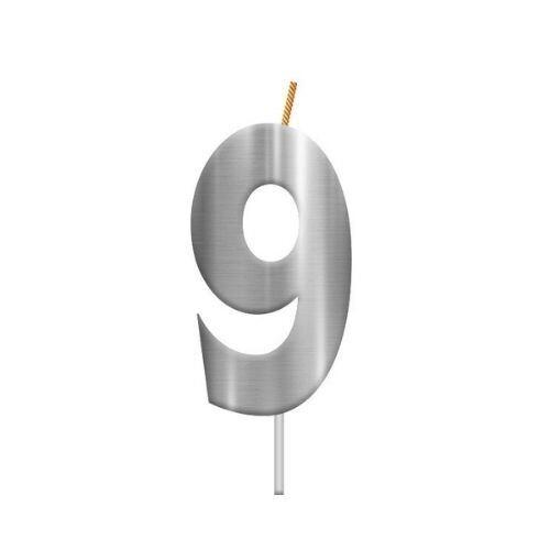 Vela Plateada Numero 9