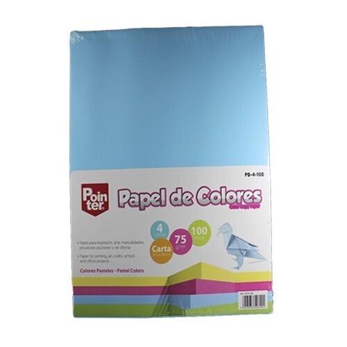Papel Bond Colores Pasteles Surtidos 100/1