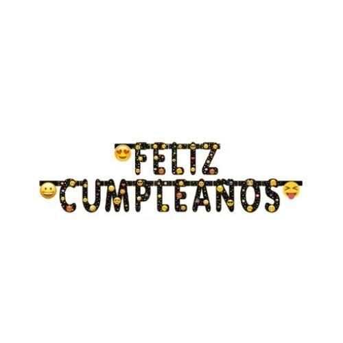Letrero Feliz Cumpleaños Emoji