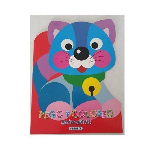 Pego y Coloreo Animalitos (Rojo). Susaeta