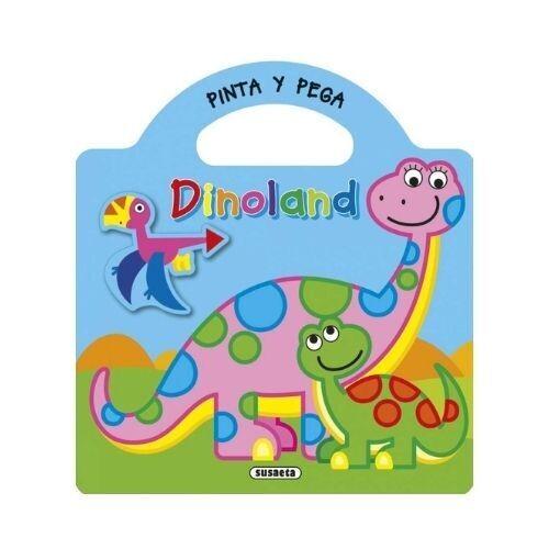 Pinta y Pega Dinoland. Susaeta