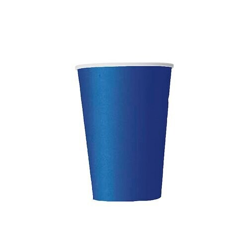 Vasos Carton 9oz Azul Marino 8/1