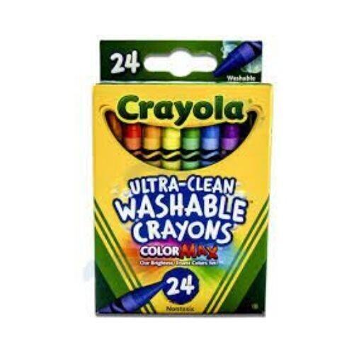 Crayones de Cera Crayola 24/1 Lavables