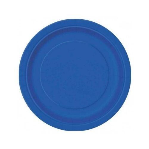 Plato Carton #9 Azul Royal 8/1