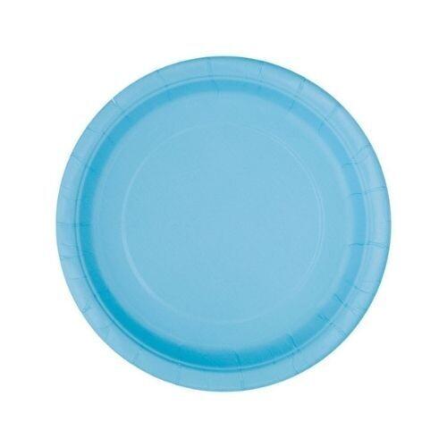 Platos Carton #7 Azul Claro 8/1