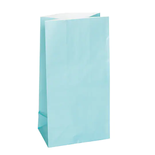 Bolsas De Papel Azul Claro 8/1