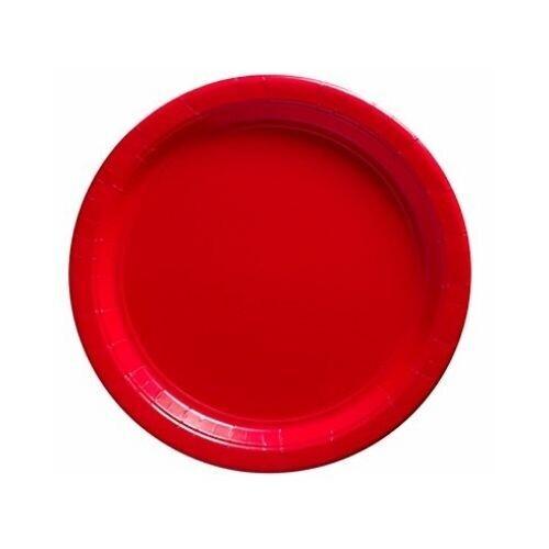 Plato Carton #9 Rojo 8/1