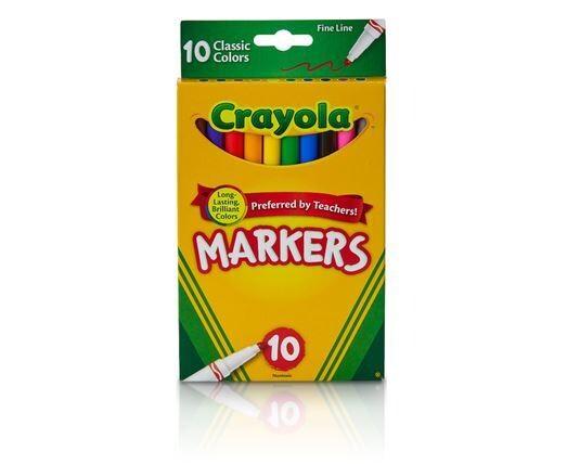 Marcadores Clasico Finos 10/1 Crayola