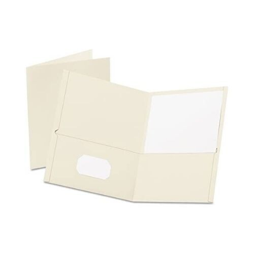 Folder con Bolsillo Color Blanco