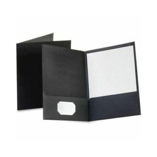 Folder con Bolsillo Color Negro