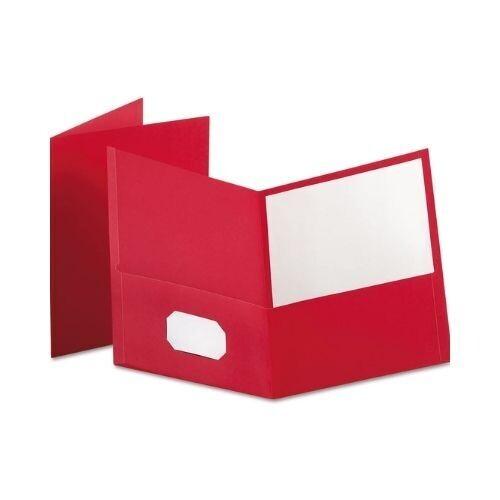 Folder con Bolsillo Color Rojo