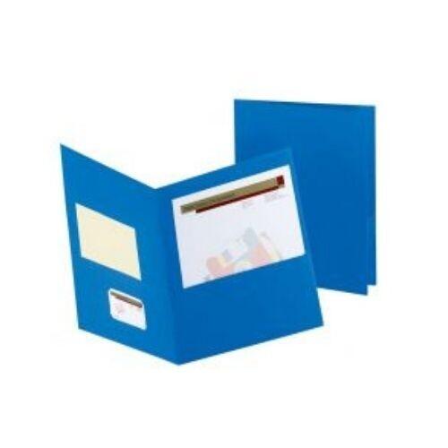 Folder con Bolsillo Color Azul