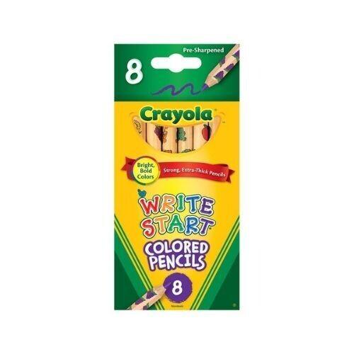 Lapices Colorear Set 8/1 Write Start Crayola