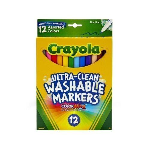 Marcadores Finos Lavables Surtidos 12/1 Crayola