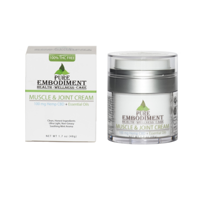 Pure Embodiment - 100mg CBD Muscle & Joint Cream 1.7 oz