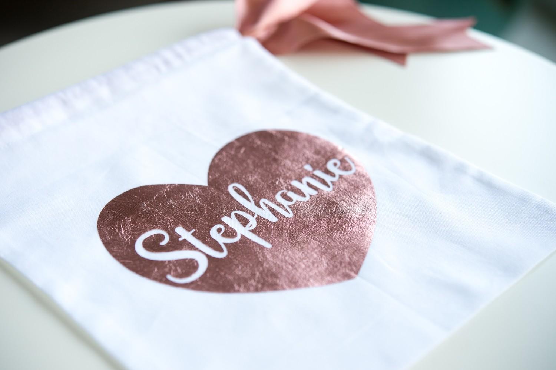 Personalised metallic party bags