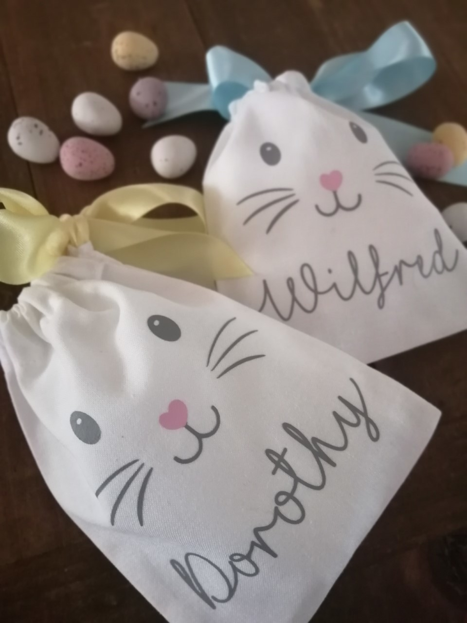 Easter bunny favour bags
