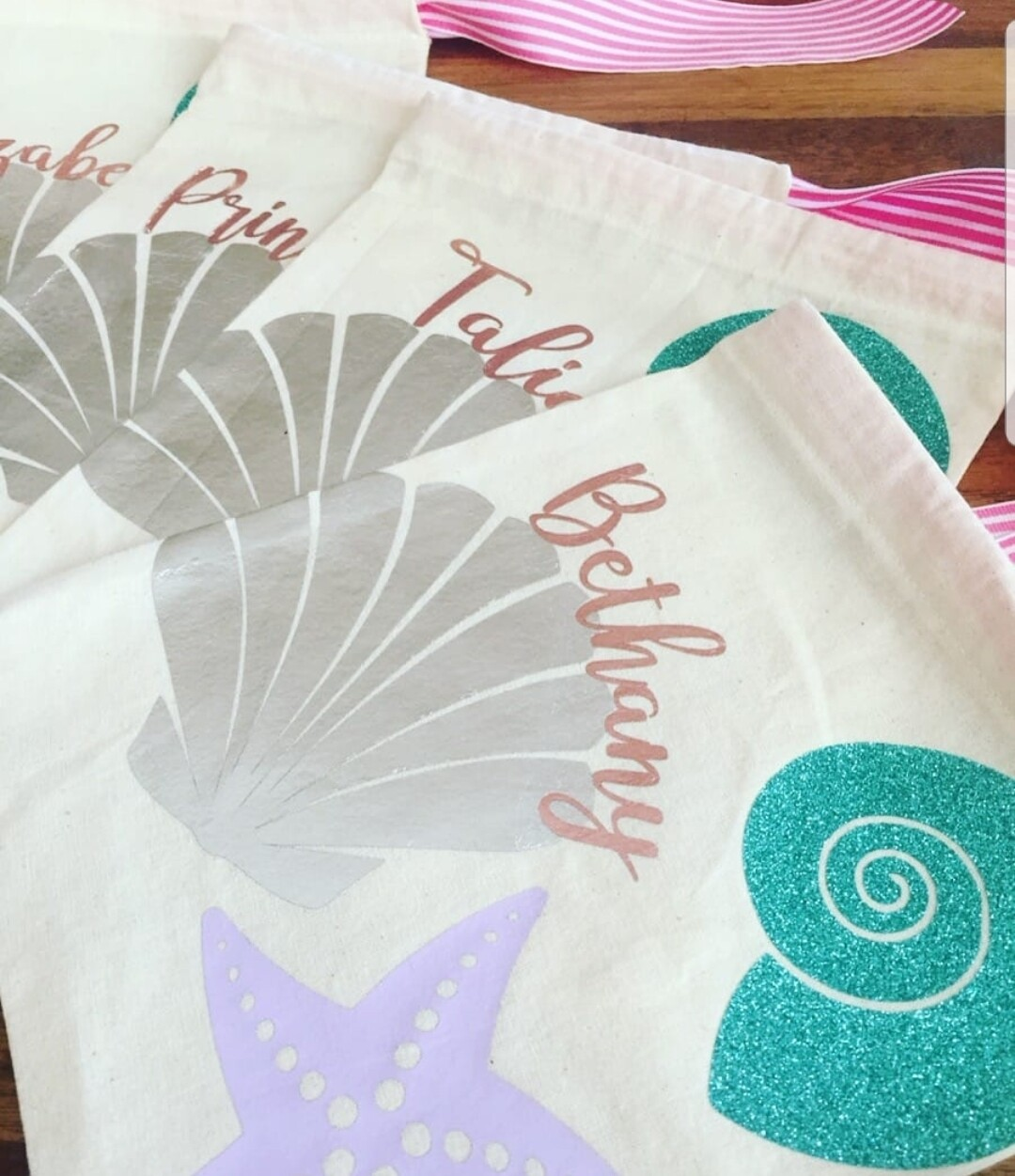 Shell Motif Party Bags