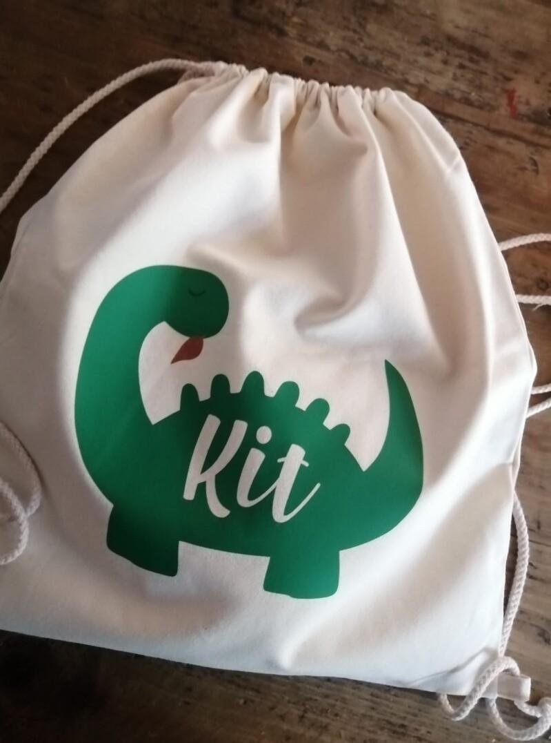 Personalised Dinosaur Back Pack