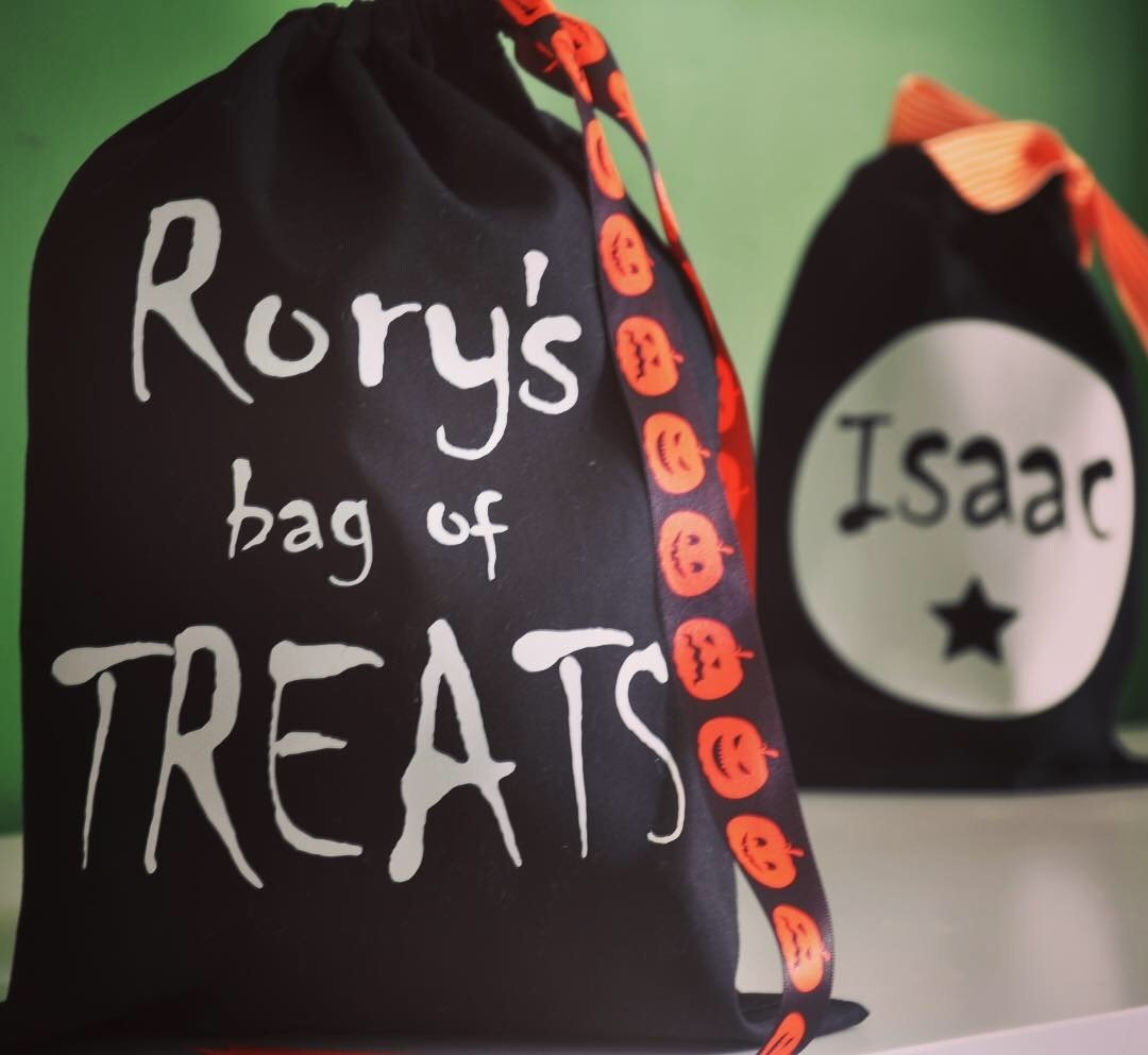 Personalised Halloween Treat Bag - Glow in the Dark