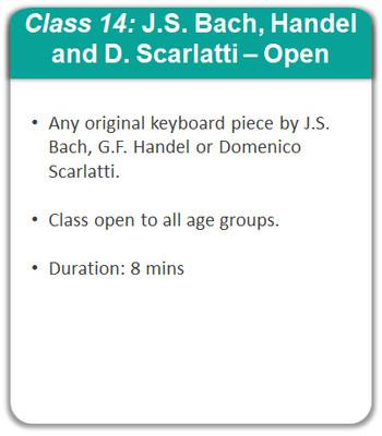 Class 14: J.S. Bach, G.F. Handel & D. Scarlatti - Open