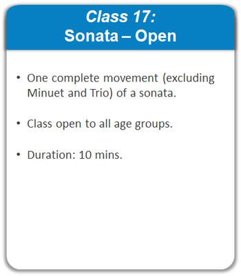Class 17: Sonata - Open