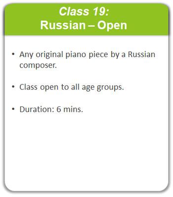 Class 19: Russian - Open