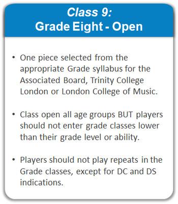 Class 9: Grade Eight - Open