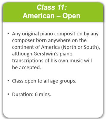 Class 11: American - Open