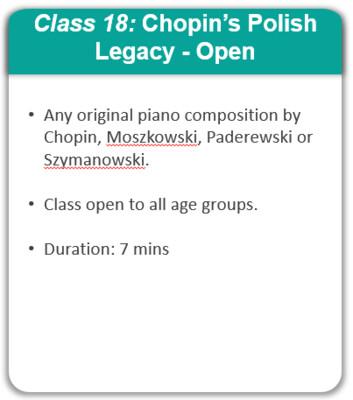 Class 18: Chopin's Polish Legacy - Open