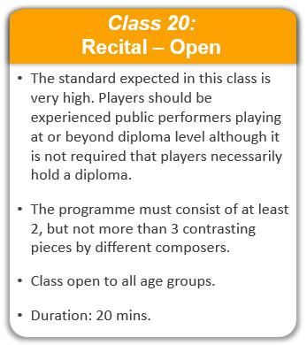 Class 20: Recital - Open