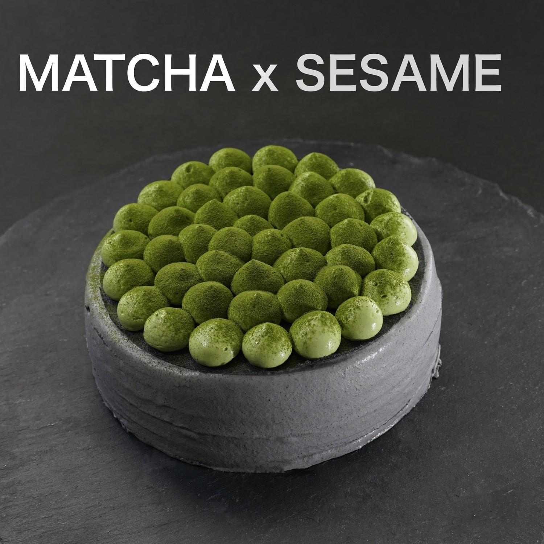 丸久小山園抹茶 x 濃厚日本黑芝麻千層蛋糕/Matcha x Black Sesame Crepe