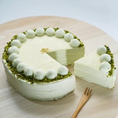 開心果千層蛋糕/Pistachio Crepe