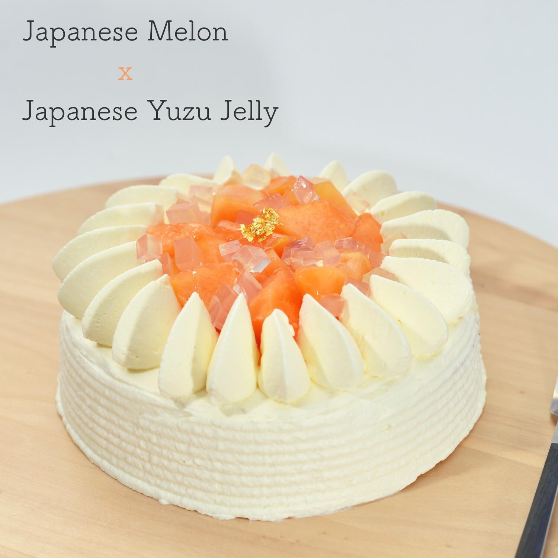 北海道赤肉蜜瓜x柚子海綿蛋糕/Japanese Melon and Zuzu Short Cake