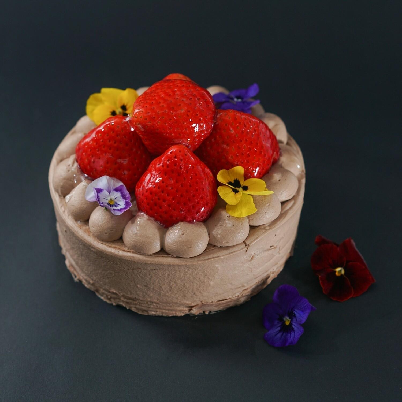 日本士多啤梨+Valrhona 厄瓜多爾朱古力千層/Japanese Strawberry + Varlhona Ecuador Chocolate Crepe