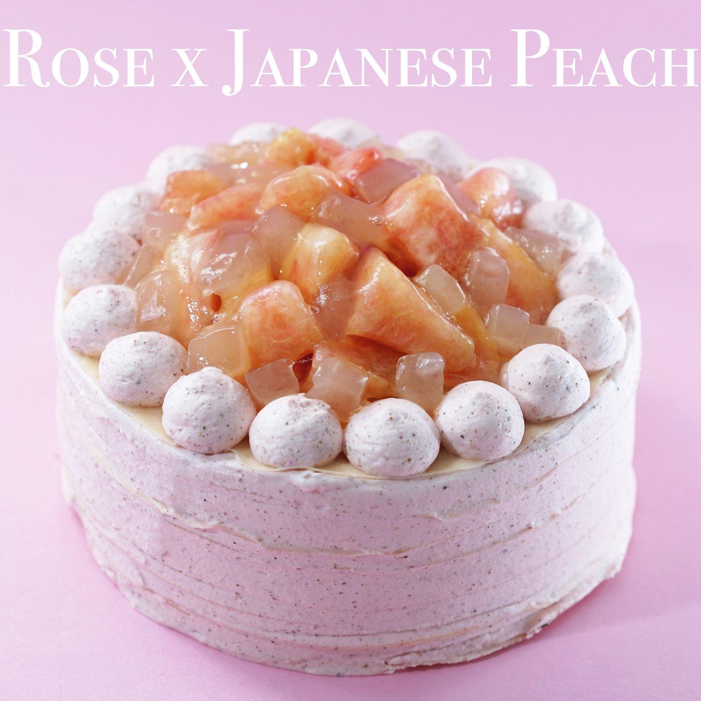 玫瑰 x 日本桃千層蛋糕